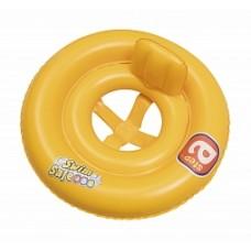 BW Круг для плавания с сиденьем и спинкой двухкамерный Swim Safe, ступень А, 69 см