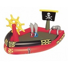 BW Игровой бассейн Пираты 190х140х96 см, 212 л, с брызгалкой и принадлежностями для игр