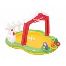 BW Детский игровой бассейн с фонтаном и принадл. Ферма 175х147х102см, 121 л, от 2 лет
