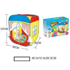 Палатка детская 107х82х82 см, с шариками, в коробке