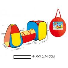 Палатка двойная детская с тунелем, в сумке