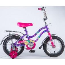 """Велосипед NOVATRACK 12"""",TETRIS,фиолетовый,тормоз нож.,крылья цвет,багажник хромир., #125954"""