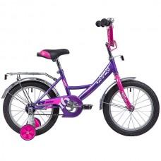 """Велосипед NOVATRACK 16"""", VECTOR, лиловый, защита А-тип, тормоз нож., крылья и багажник хром."""
