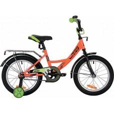 """Велосипед NOVATRACK 16"""", VECTOR, оранжевый, защита А-тип, тормоз нож., крылья и багажник чёрн."""