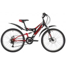 """Велосипед Foxx 24"""" Freelander 14""""; черный"""