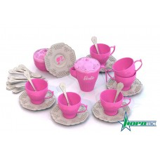 631 Набор чайной посудки БАРБИ (34 предмета в коробке)