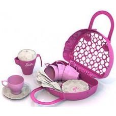 633 Набор чайной посудки БАРБИ (21 предмет в корзинке)