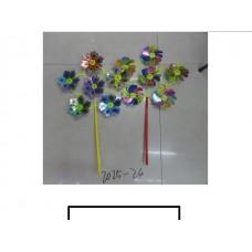 Ветряк детский 6 цветков с рисунком, пакет
