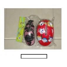 Комплект детской защиты  (наколенники, налокотники, шлем) в сетке