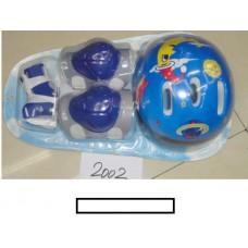 Комплект детской защиты  (наколенники, налокотники, шлем) в блистере