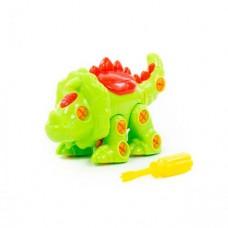 """Конструктор-динозавр """"Трицератопс"""" (32 элемента) (в пакете)"""