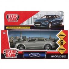 Машина металл FORD MONDEO, длина 12 см, откр дв, багаж, инерц, золотой. Технопарк в кор.2*36шт