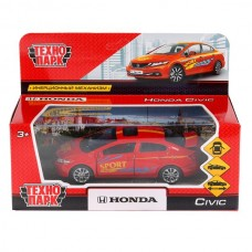 "Машина металл ""HONDA CIVIC СПОРТ"", длина 12см, открыв. двери, инерц, в кор. Технопарк в кор.2*36шт"