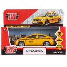 "Машина металл ""HONDA CIVIC ТАКСИ"", длина 12см, открыв. двери, инерц, в кор. Технопарк в кор.2*36шт"