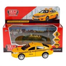"Машина металл ""HONDA ACCORD ТАКСИ"", длина 12см, открыв. двери, инерц. в кор. Технопарк в кор.2*36шт"