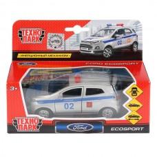 Машина металл FORD Ecosport полиция 12см, открыв. двери, инерц. в кор. Технопарк в кор.2*24шт