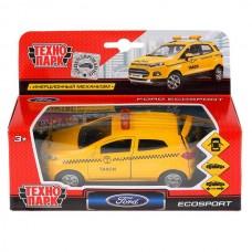 Машина металл FORD Ecosport такси 12см, открыв. двери, инерц. в кор. Технопарк в кор.2*24шт