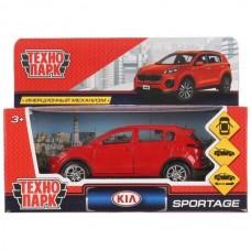 """Машина металл """"KIA SPORTAGE"""" 12см, открыв. двери, инерц., красный в кор. Технопарк в кор.2*36шт"""