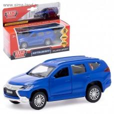 "Машина металл ""MITSUBISHI PAJERO SPORT"" 12см, открыв двери, инерц, синий в кор Технопарк в кор2*36шт"