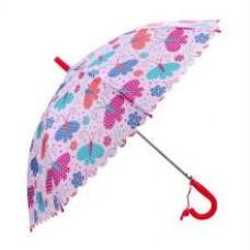 Зонт детский Весенние бабочки , 48 см, полуавтомат