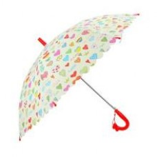 Зонт детский Сердечки, 48 см, полуавтомат