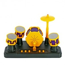 Барабанная установка сенсорная пальчиковая, желт/сиренев свет, звук