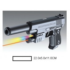 Пистолет детский мех., 22x5x11 см, пакет.