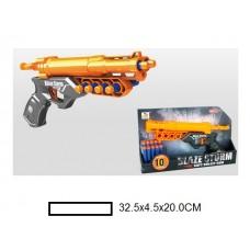 Бластер детский с мягкими пулями, 10 м/пуль, кор, 32,5х4,5х20 см