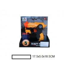 Бластер детский с мягкими пулями, 5 м/пуль, кор, 17,5х5х18,5 см