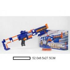 Бластер детский эл, с мягкими пулями, 20 м/пуль, кор, 52х8,5х27,5 см