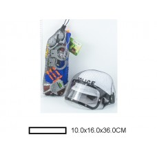 Игр.набор Полицейского, с каской и аксс., в сетке 10х16х36 см