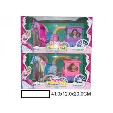 Игрушка Карета с лошадью на батар., в кор. 41х12х20 см