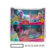Игрушка Карета с лошадью на батар., в кор. 42х12х20 см