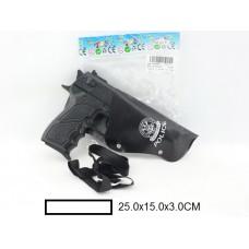 Пистолет трещётка с кобурой, пакет 25х15х3 см