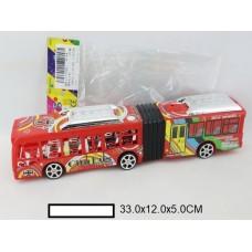 Автобус инерционный, пакет 33х12х5 см
