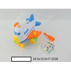 Конструктор-скрутка Самолет, пакет 24х12х17 см