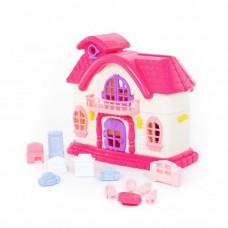 """Кукольный домик """"Сказка"""" с набором мебели (12 элементов) (в пакете)"""