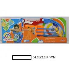Набор Лук в колчане со стрелами и мешенью, в кор. 54х22х4,5 см