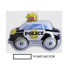 Воздушный шар фольг. Полицейская машина, в ассорт., пакет