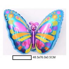 Воздушный шар фольг. Бабочка, в ассорт., пакет