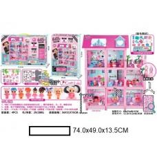 Кукольный домик с аксс.,9 комнат, в кор. 74х49х13,5 см