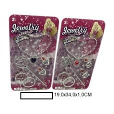 """Набор аксс.для девочек """"Jewelry"""" в ассорт., на листе 19х34х1 см"""