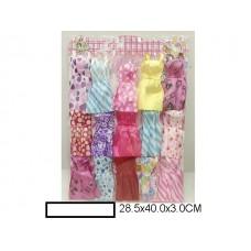 Набор платьев для кулы, 15 шт, в ассорт., пакет 29х40х3 см