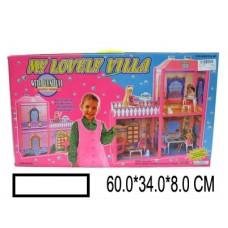 Кукольный домик Вилла  с аксс., в кор. 61х34х8 см