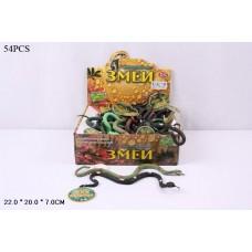 Набор фигурок змеи в ассорт., 54 шт. в кор.