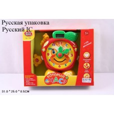 Развивающая игрушка Часы на батар., в кор.